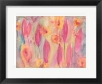 Framed Snow Flowers II