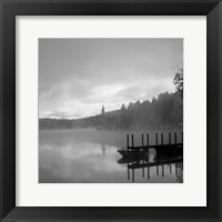 Framed On The Dock bw