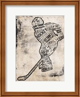Framed Hockey Type Black