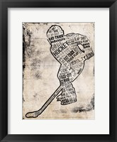 Framed Hockey Type Black