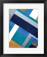 Framed Stipe Overlay Blue