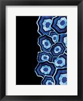 Framed Half Of Blue Agates