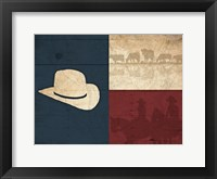 Framed Texas Hat