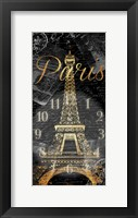 Framed Paris Eiffel Time
