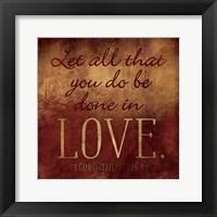 Framed Done In Love - Red