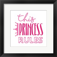 Framed Princess Rules