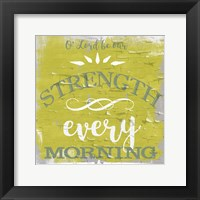 Framed Be Our Strength Rustic Yellow