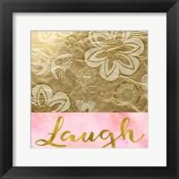 Framed Laugh Golden Flowers