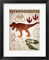 Framed Tyrannosaurus Dinosaur