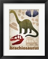 Framed Brachiosaurus Dinosaur