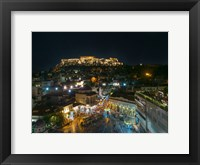 Framed Greece Athens Acropolis Night 2