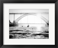 Framed Portugal Porto BW Bridge