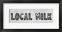 Fresh Local Milk And Eggs Framed Print