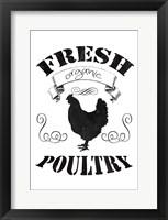Fresh Organic Poultry Framed Print