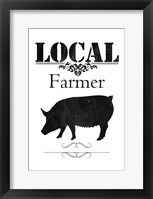 Local Farmer Framed Print