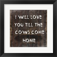 Framed Cows Come Home