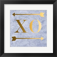 Framed XO Grey Gold