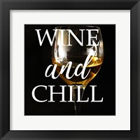 Framed Wine and Chill