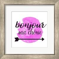 Framed Bonjour Ma Cherie