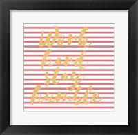Framed Work Hard Stripe