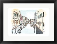 Framed Venice In Ink