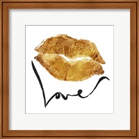 Framed Love Lips Gold