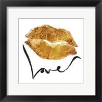 Framed Love Lips Gold