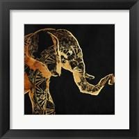 Framed Patterned Elephant