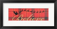 Framed Believe In Plaid