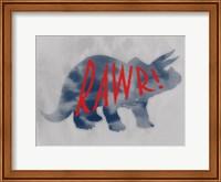Framed Dino Rawr