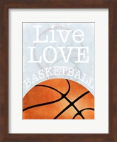 Framed Basketball Love