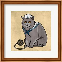 Framed Sailor Cat