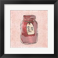 Jar Of Boldness Framed Print