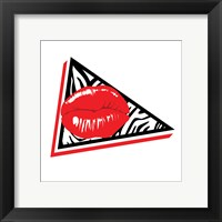 Framed Abstract Lip Mate