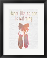 Dance A Framed Print