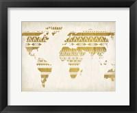 Framed Patterned Map