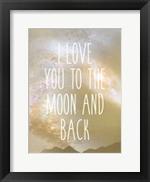 Framed I Love You to the Moon