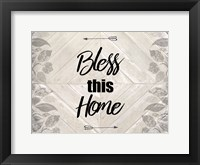 Framed Bless This Home Quote