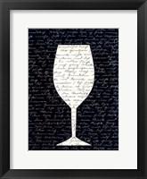 Framed Wine on Black 1