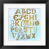 Framed ABC Blue