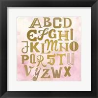 Framed ABC Pink