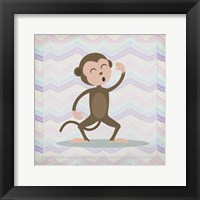 Framed Pink Monkey Time