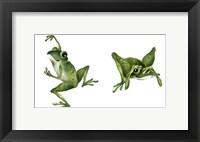 Framed April Showers - Frogs
