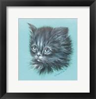 Framed Black Kitten - 23A