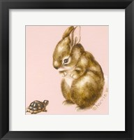 Framed Bunny And Turtle