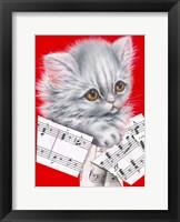 Framed Music Cat - 12A