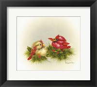 Framed Cardinals And Holly