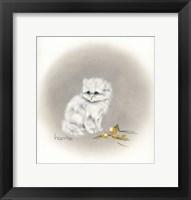 Framed White Kitty (Ornament)