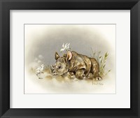 Framed Rhino Baby