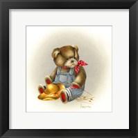 Framed Country Teddy